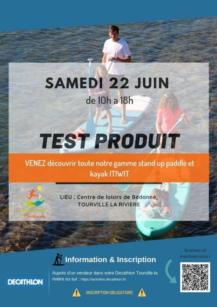 test décatlon kayak paddle